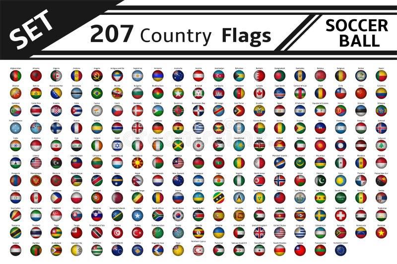 207个国旗足球 皇族释放例证
