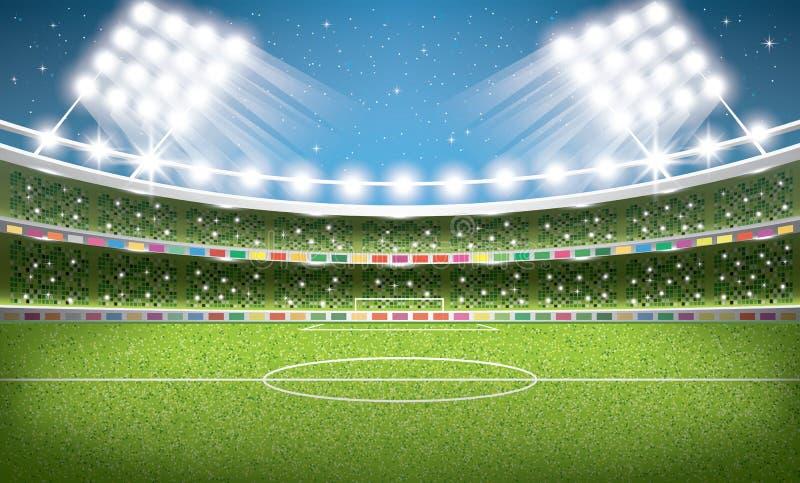 01个城市巴黎足球场 橄榄球竞技场 向量例证