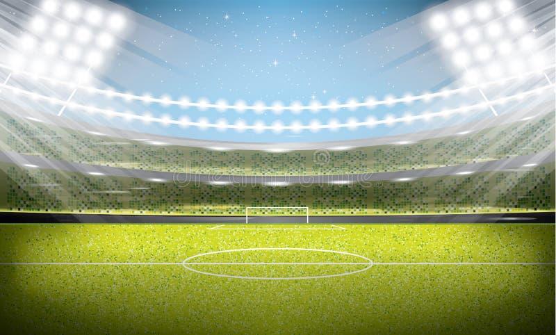 01个城市巴黎足球场 橄榄球竞技场 皇族释放例证