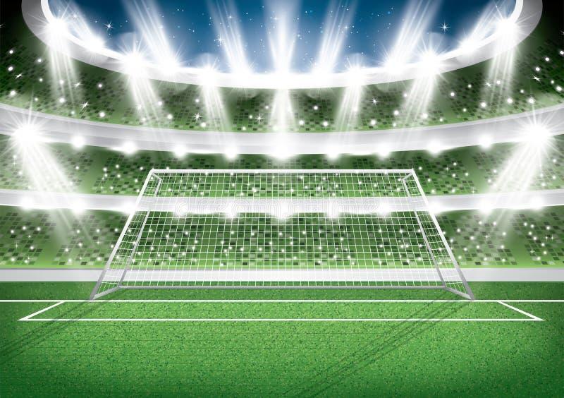 01个城市巴黎足球场 目标岗位橄榄球竞技场 向量例证