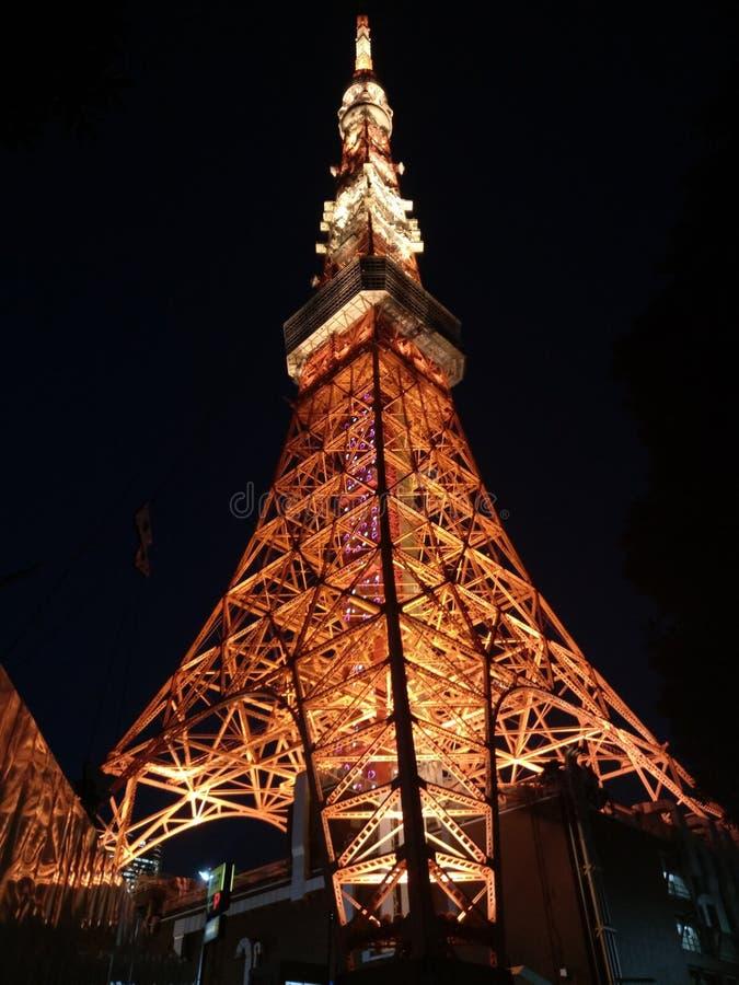 2011个夏天被采取的东京塔 库存照片