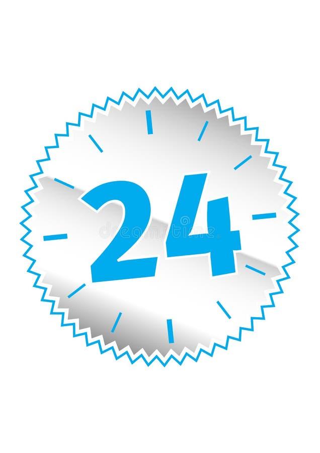 24个小时标志 库存例证