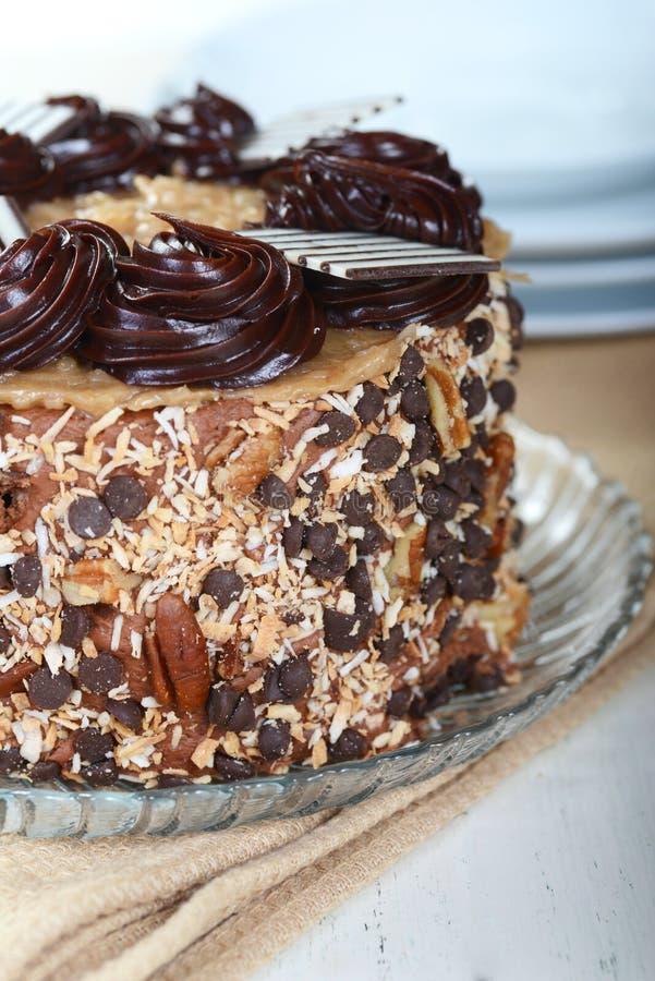 整个德国巧克力蛋糕 库存图片