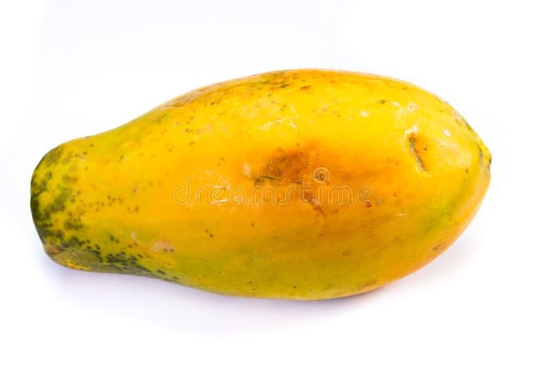 整个成熟番木瓜 库存图片
