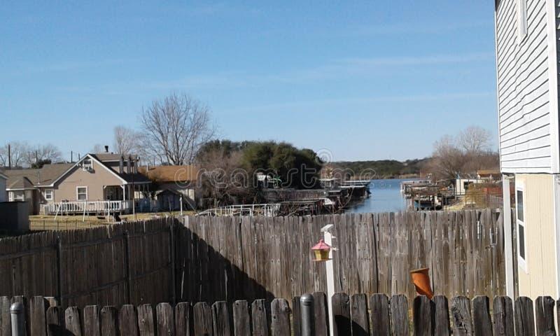 2个房子湖 免版税库存图片