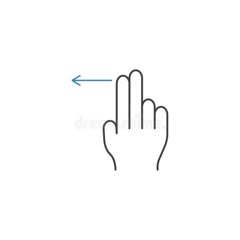 2个手指重击离开线象,手势