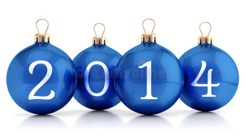 2014个新年小组球 向量例证