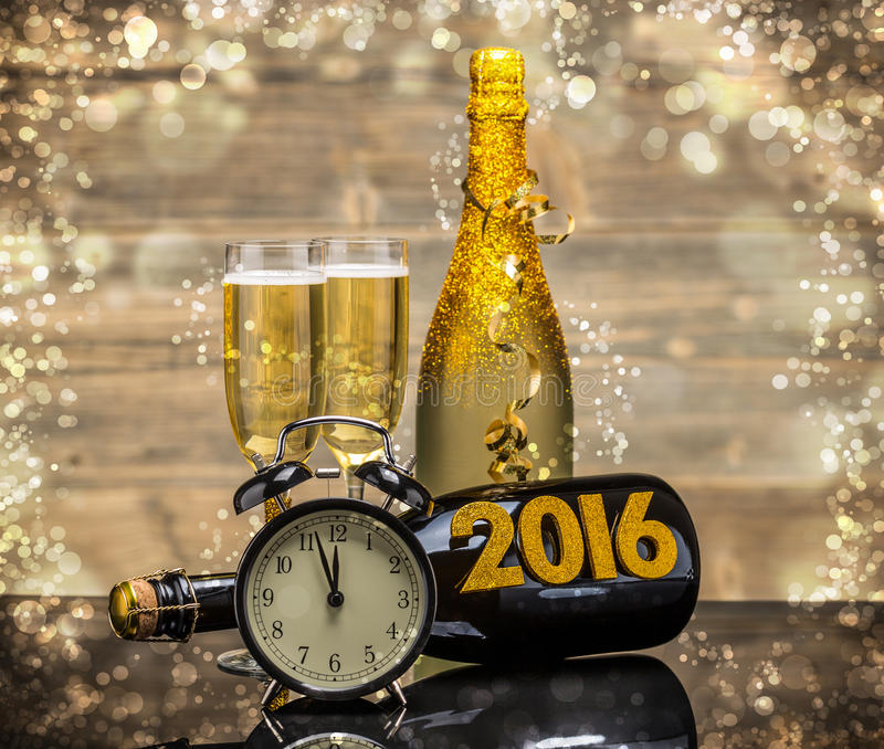 2016个新年 库存照片
