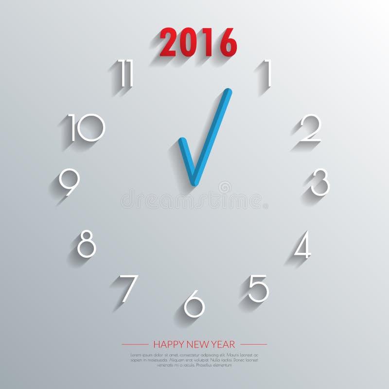 2016个时钟背景 传染媒介/例证 皇族释放例证