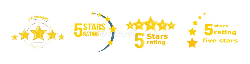 5个星金子规定值 反馈,回顾,通知,投票支持收集统计 皇族释放例证
