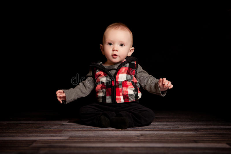 5个月大男孩 免版税库存照片