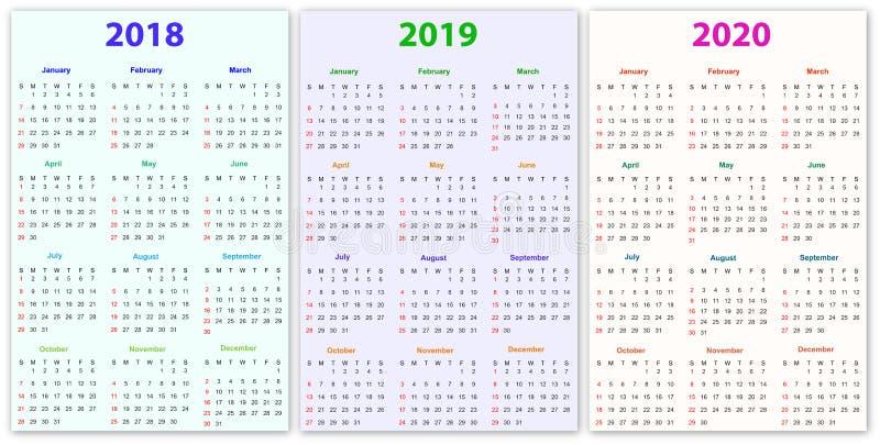 12个月日历设计2018-2019-2020. 编号, 通知单.
