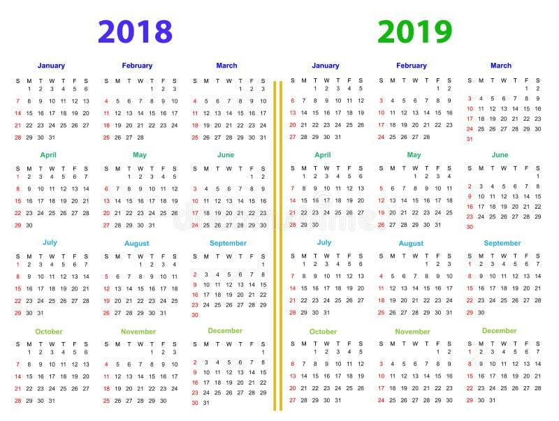 2019年1月份的日历图片