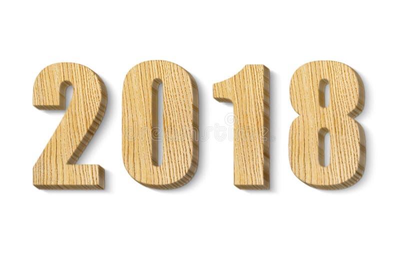 2018个木数字 免版税库存图片
