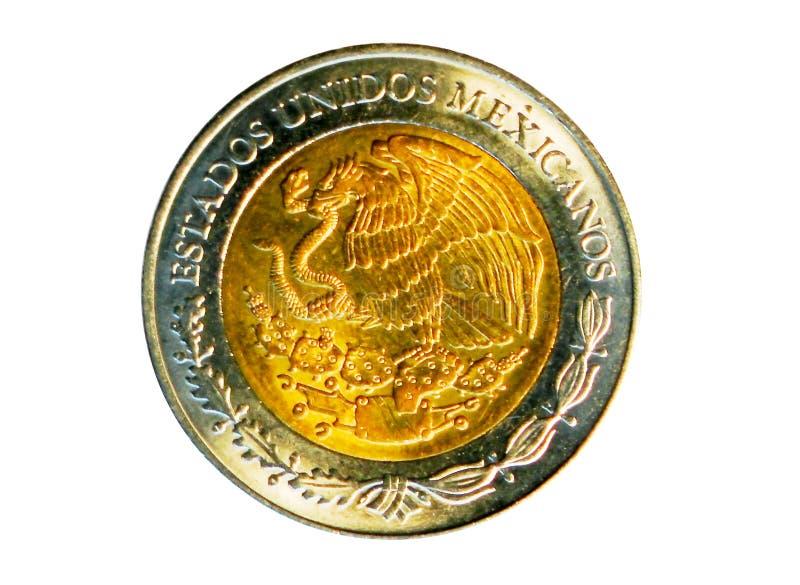 2个比索双金属硬币 墨西哥银行 扭转, 2016年 库存照片