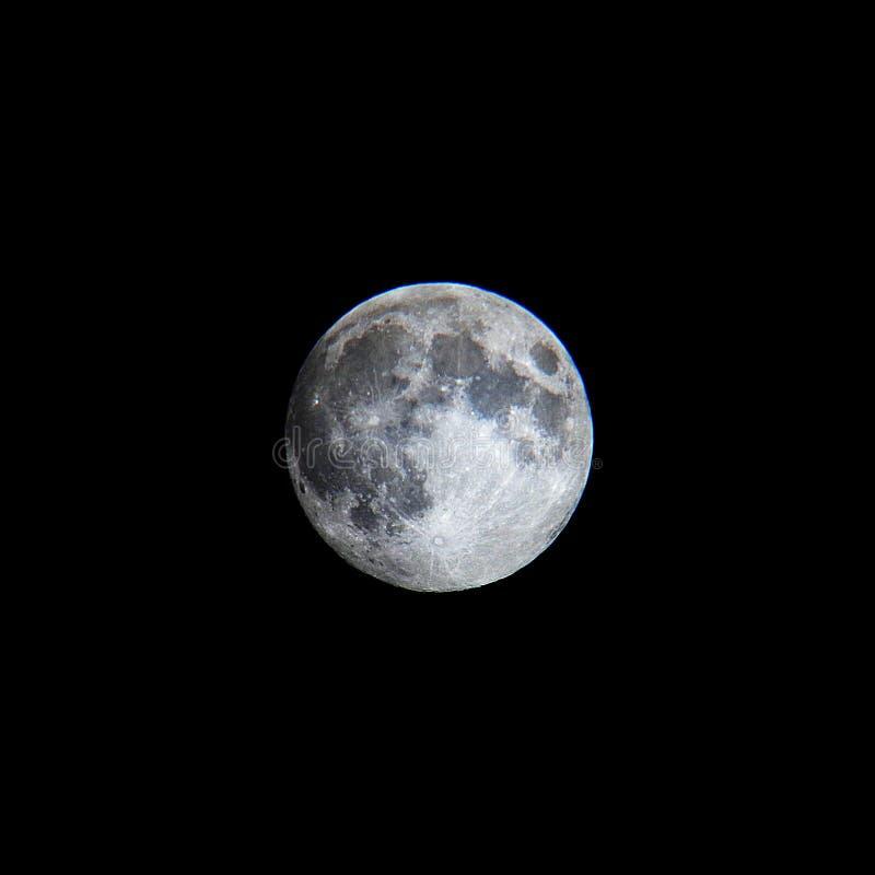 整个清楚的月亮 免版税库存图片