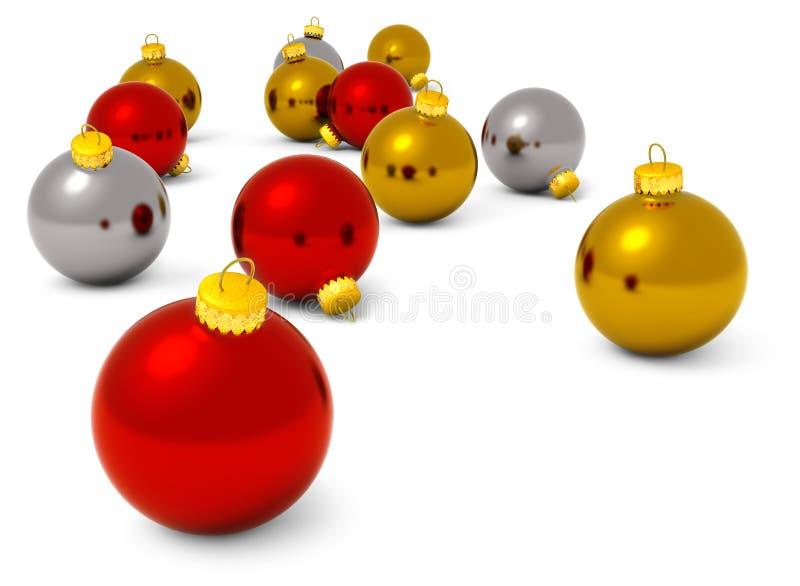 2007个球圣诞节年 库存例证