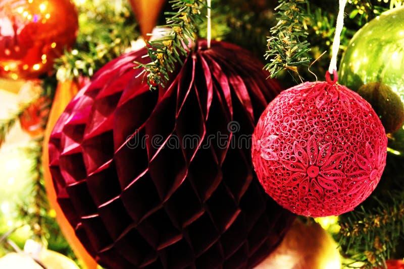 2007个球圣诞节年 免版税库存图片
