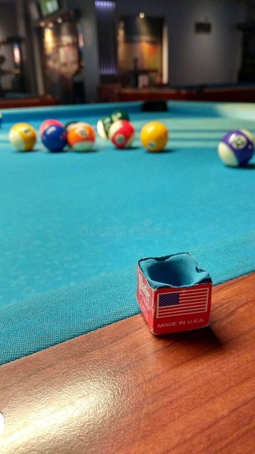 8个球水池 免版税图库摄影