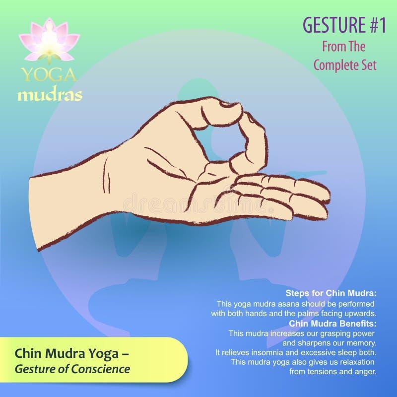01个瑜伽Mudras姿态 免版税库存图片