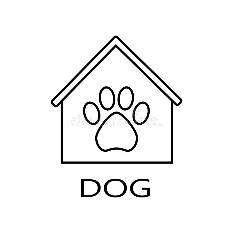 4个电缆犬科朋友房子安置被租赁的岁月 库存例证