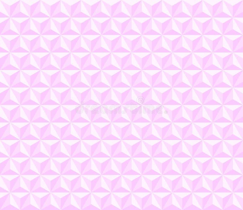 3个粉色金字塔 矢量无缝模式 simple light geometric repetitive background for ad card sign 皇族释放例证