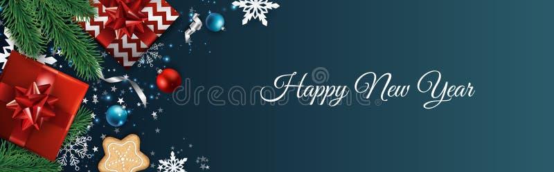 8个背景圣诞节eps文件包括的向量 设计贺卡,横幅,海报 顶视图礼物盒,xmas装饰球和 皇族释放例证