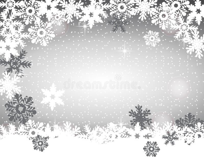 8个背景圣诞节eps文件包括的银色向量 皇族释放例证