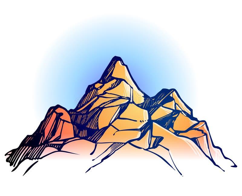 8个背景eps山脉 库存例证