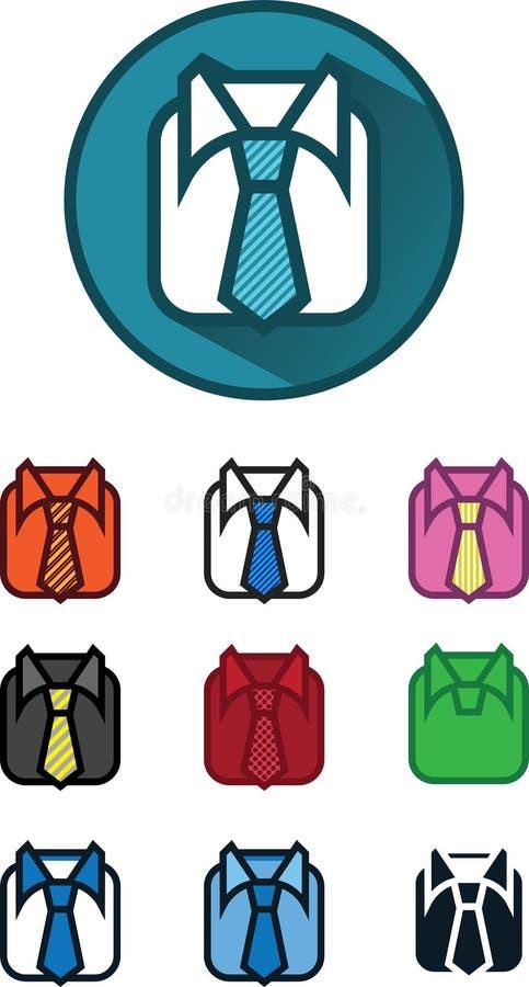 10个象可变物、衬衣和领带例证,传染媒介 库存例证