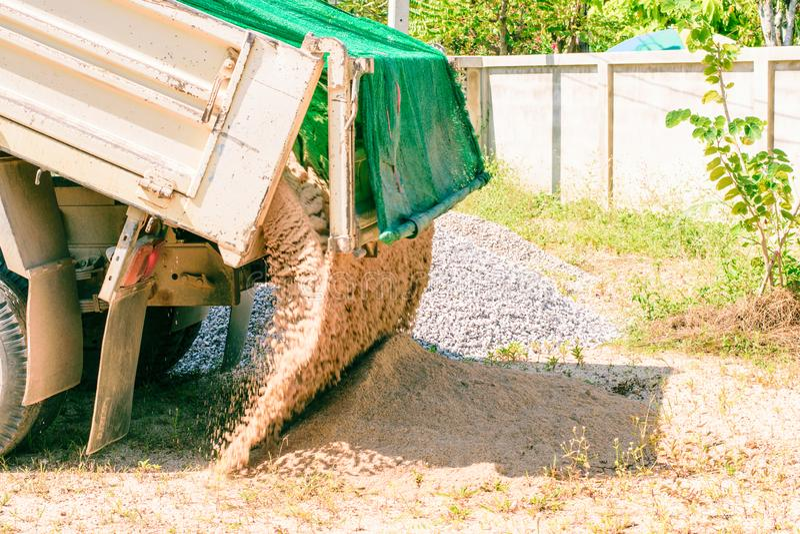 6个轮子卡车 库存图片