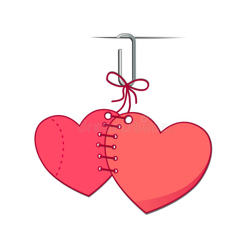 2个重点 日愉快的华伦泰 是我的华伦泰 华伦泰卡片我爱你,是我的华伦泰 五颜六色的背景&垂悬的心脏 皇族释放例证