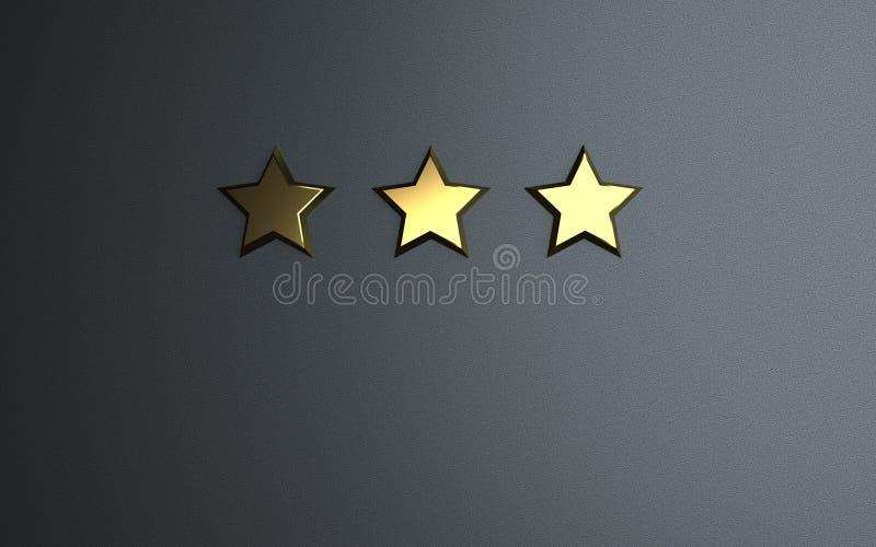 3个金黄星对估计 皇族释放例证