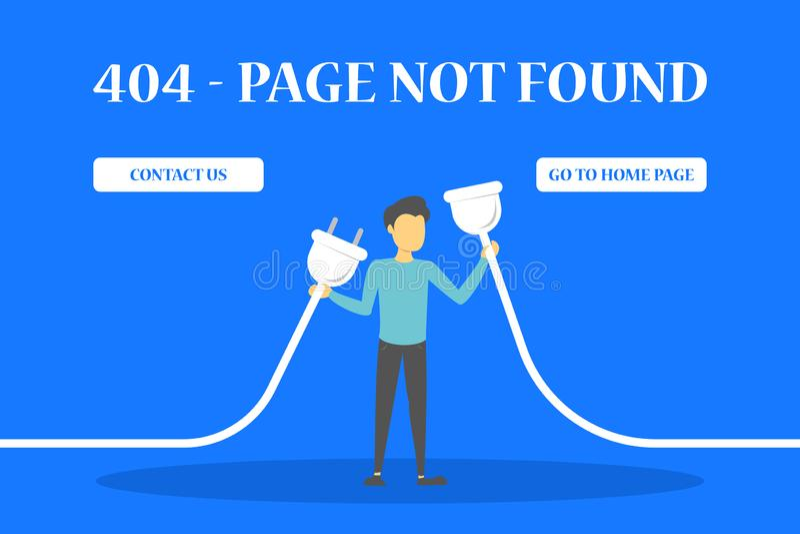 404个错误页没有发现了网站的横幅 皇族释放例证