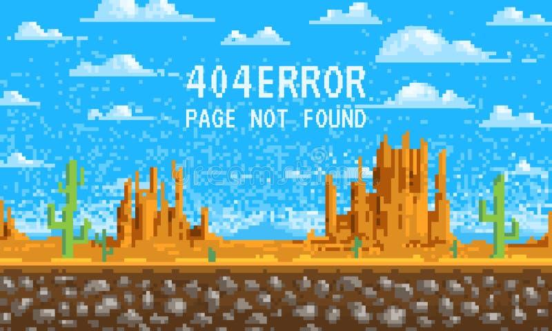 404个错误页 没找到 使背景,映象点艺术, 8位网站的比赛数字式葡萄酒样式环境美化 云彩 向量例证