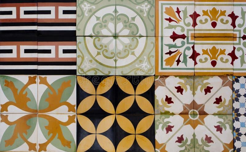 9个陶瓷砖的汇集 库存照片