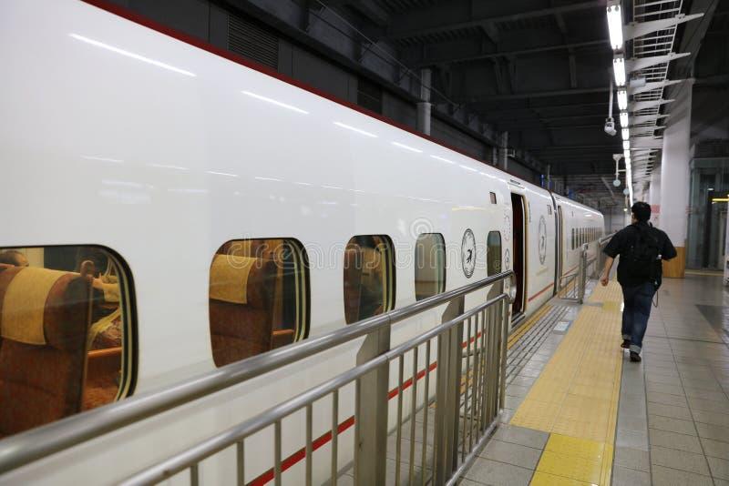 800个项目符号九州系列shinkansen培训 免版税库存图片