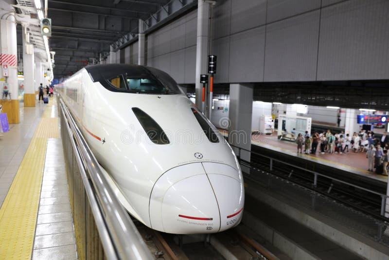 800个项目符号九州系列shinkansen培训 图库摄影