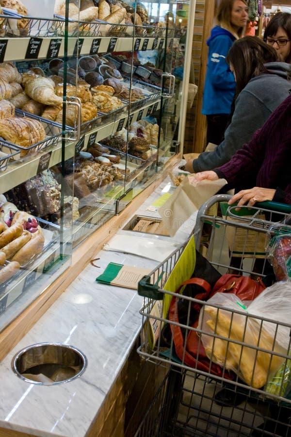 整个食物市场盛大开幕式 免版税库存图片