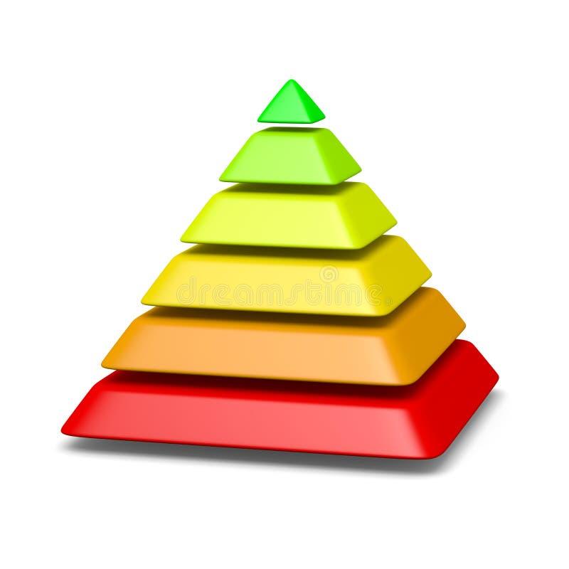6个水平金字塔结构环境概念 库存例证