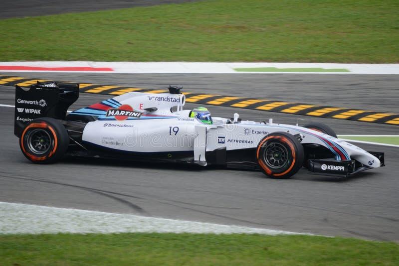 2014个F1蒙扎威廉斯FW36 -菲利佩・马萨 库存图片