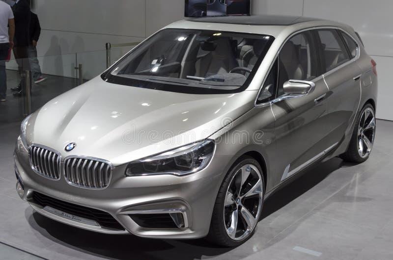 2013个GZ AUTOSHOW-BMW活跃游览车概念 免版税库存图片