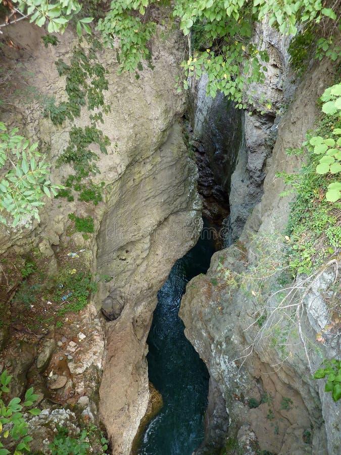 3个hdr图象山全景河垂直 免版税库存图片