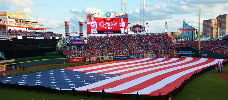 2015个MLB Allstar比赛 库存图片