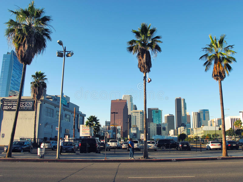 627个W Pico大道 加利福尼亚,洛杉矶 街道 库存图片