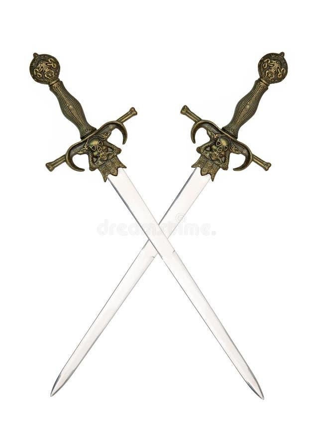 中世纪发怒剑 免版税库存图片