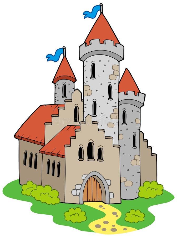 中世纪古老的城堡 向量例证