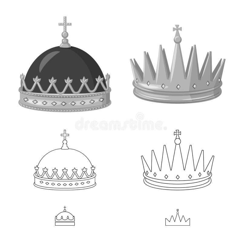 中世纪和贵族象传染媒介设计  o 向量例证