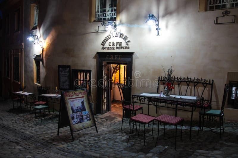 中世纪咖啡馆&餐馆 库存照片