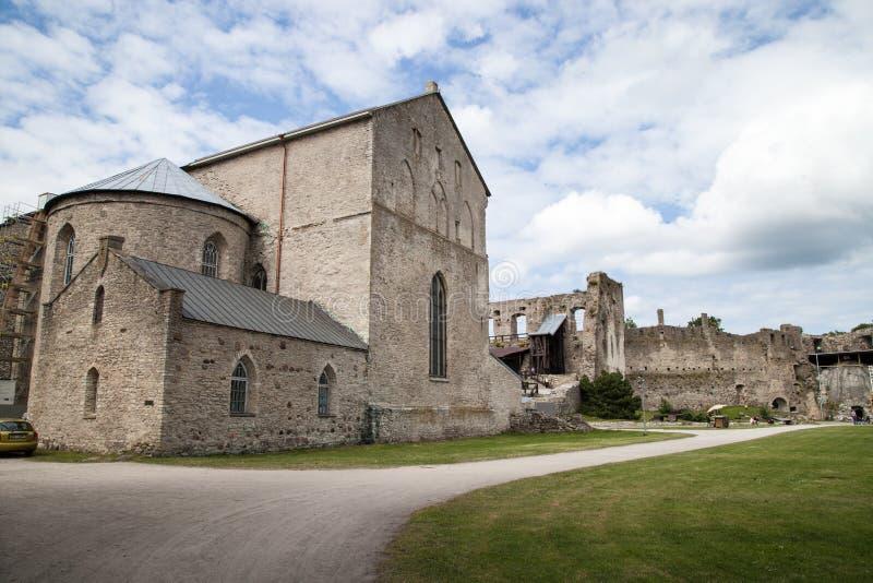 中世纪哈普沙卢主教城堡,爱沙尼亚 免版税库存照片